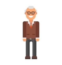 Grandfather professor portrait vector