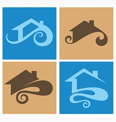 home emblems vector image vector image