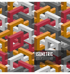 Isometry background vector image vector image