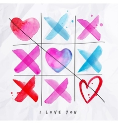 Love noughts and crosses game vector