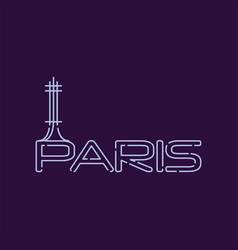 paris city logo in line style abstract silhouette vector image vector image