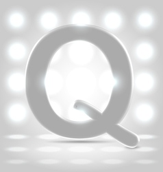 Q over lighted background vector image vector image