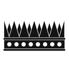 regal crown icon simple style vector image