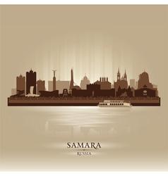 Samara Russia skyline city silhouette vector image vector image