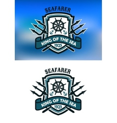 Seafarer marine banner vector