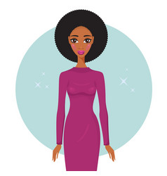 stylish young african american woman wearing vector image vector image