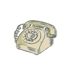 Telephone vintage etching vector