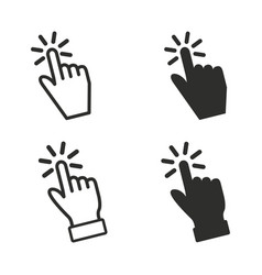 Touch icons set vector