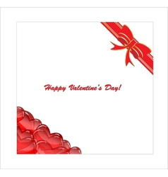 Valentines Day card art vector image