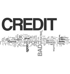 What is bad credit uk text word cloud concept vector