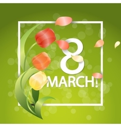 Women day Typographical Background With Spring vector image