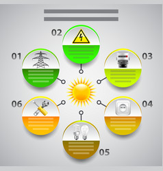Electricity infographics arrows with tools in vector