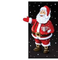 Santa claus cartoon character showing merry vector