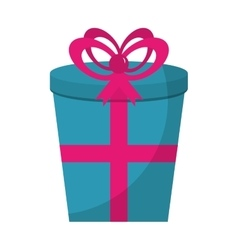 Gift box present isolated icon vector