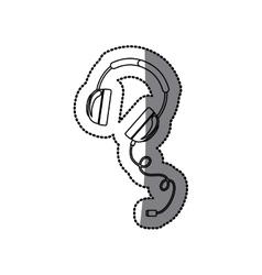 Isolated headphone design vector image