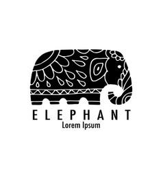 ornate elephant design vector image