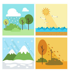 four season background vector image