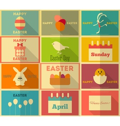 Easter retro posters vector