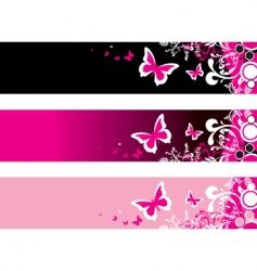 pink floral vector image