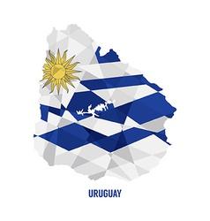 Map of Uruguay vector image