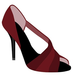 Red woman shoes vector