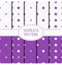 Set of purple hipster fashion geometric seamless vector