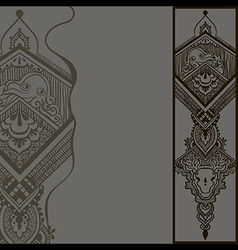 Gray pattern with ornamental design vector image