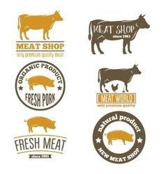 Set of vintage labels logo emblem templates for vector image