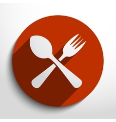 Disware and cutlery web icon vector