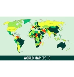 High detail world map vector