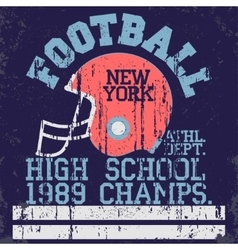 Football vintage t-shirt graphics vector