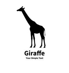 a silhouette of a giraffe vector image