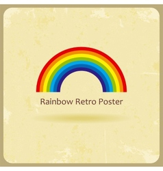 Abstract retro rainbow background vector image