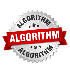Algorithm round isolated silver badge vector
