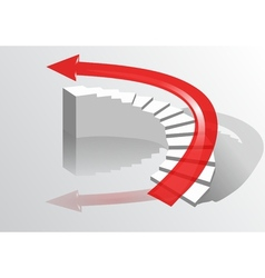 Arrow on the stairs vector image vector image
