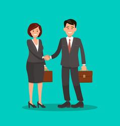 Background business cooperation handshake t vector