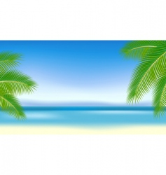 branches of palm trees against vector image