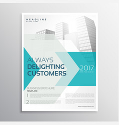 Business brochure leaflet template with arrow and vector