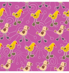 chicks pattern vector image vector image