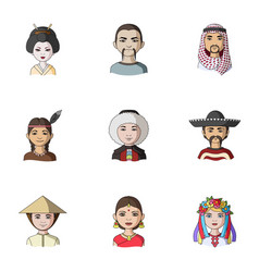 chinese russian american arab indian turk and vector image
