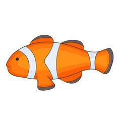 Clown fish icon cartoon style vector