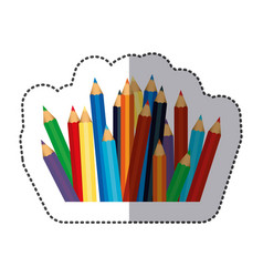 Color pencils color icon vector