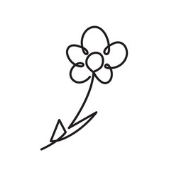 Continuous one line drawing of flower vector