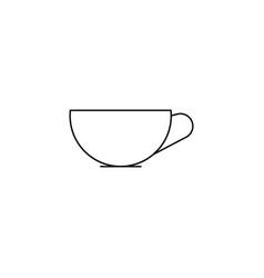cup line icon vector image