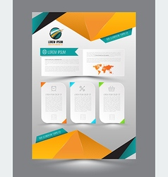 design page template origami modern style vector image vector image