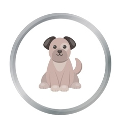 Dog icon in cartoon style isolated on white vector