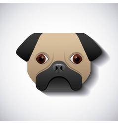 Dog pug race design vector
