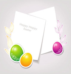 easter backgr vector image