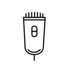 electrician line icon sign vector image