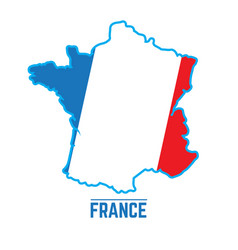 flag and map of france vector image
